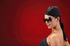Sexy stewardess. Royalty Free Stock Photography