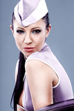 stewardess woman Royalty Free Stock Photo
