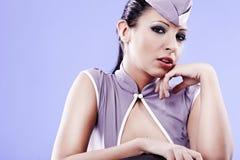 Sexy stewardess woman Royalty Free Stock Photos
