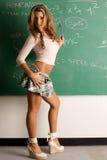 Sexy student bij de raad Stock Afbeelding