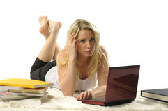 Sexy student girl Stock Photography
