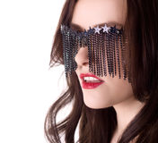 Sexy stylish woman in creative glasses Royalty Free Stock Photos