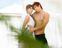 Sexy summer couple Stock Photo