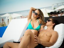 Sexy summer couple Stock Photography