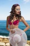 Sexy summer girl near sea Stock Photo