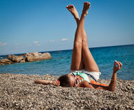 Sexy summer legs Stock Photos