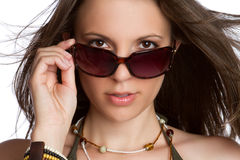 Sexy Sunglasses Woman Royalty Free Stock Photo