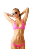 Sexy tan woman in bikini Royalty Free Stock Image
