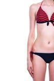 Sexy tan woman in bikini close-up Stock Photo
