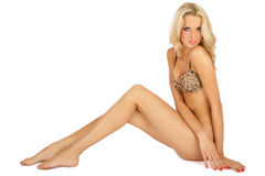 Sexy tanned blonde Royalty Free Stock Photos