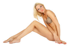 Sexy tanned blonde Stock Image