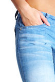 tanned woman belly shot in studio Royalty Free Stock Images