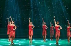 Sexy Tanz-lateinischer Tanz Lizenzfreies Stockbild