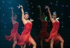 Sexy Tanz-lateinischer Tanz Stockfoto