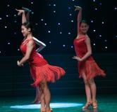 Sexy Tanz-lateinischer Tanz Lizenzfreies Stockfoto