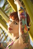 tattooed woman. Royalty Free Stock Photography