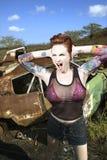 Sexy tattooed woman. Royalty Free Stock Photos