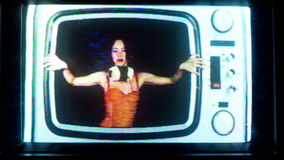television party women stock video