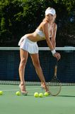 Sexy tennis girl Royalty Free Stock Photos