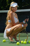 Sexy tennis girl Royalty Free Stock Photos