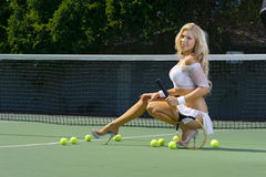 Sexy tennis girl Stock Images
