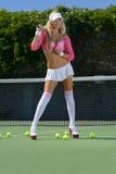 Sexy tennis girl Stock Photo