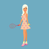Sexy tennis player  illustration Royalty Free Stock Images
