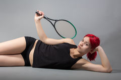 Sexy tennis player Royalty Free Stock Image