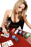 Sexy Texas Hold Um Royalty Free Stock Images