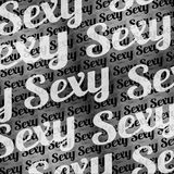 Sexy Text Typographic Pattern Royalty Free Stock Photos
