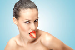 Sexy tongue. Royalty Free Stock Images