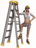 Sexy Tool Girl Royalty Free Stock Photos