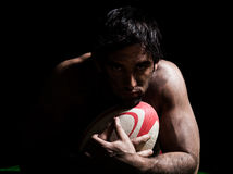 Sexy topless rugby man portrait Royalty Free Stock Photos