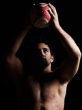 Sexy topless rugby man portrait Royalty Free Stock Image