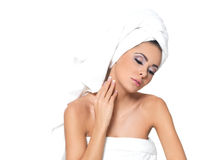 Sexy in Towel Royalty Free Stock Image