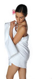 Sexy Towel Girl Stock Photos