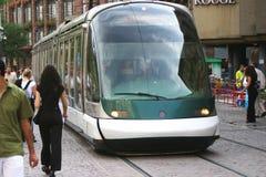 Tramway in Strasbourg, France stock photo