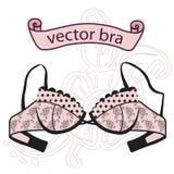 Sexy uitstekende roze bustehouder vector illustratie