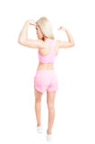 Sexy und dünne Eignung oder aerober Trainer Stockfoto