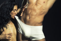 Sexy undressed couple Royalty Free Stock Photo