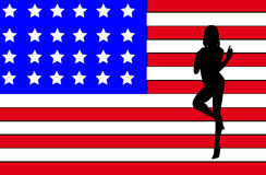 Sexy USA Women Outline Royalty Free Stock Photography