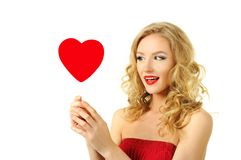 Sexy valentine girl Stock Photo