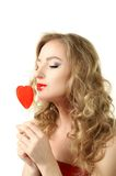 valentine girl Royalty Free Stock Photography