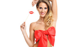 Sexy Valentine woman Royalty Free Stock Photo