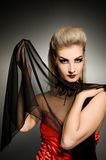 Sexy vamp woman. With creative hairstyle Royalty Free Stock Photos