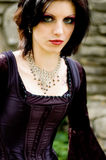 Sexy vampiervrouw Stock Afbeelding