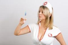 Sexy verpleegster royalty-vrije stock fotografie