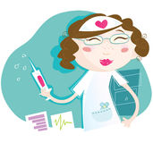 Sexy verpleegster stock illustratie