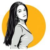 Sexy verraste vrouw Vector in pop-artstijl Art Graphic Design vector illustratie