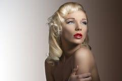 vintage blonde diva stock photo